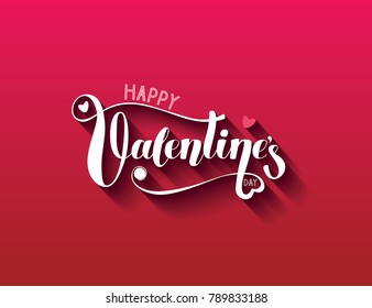 Happy Valentine's day vector handwritten lettering.