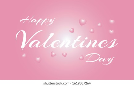 Happy Valentine's Day. Vector illustration of greeting card, banner