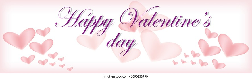 """""""Happy Valentine's day"""" vector illustration for posters, greeting cards, brochure, website designing and banners."""