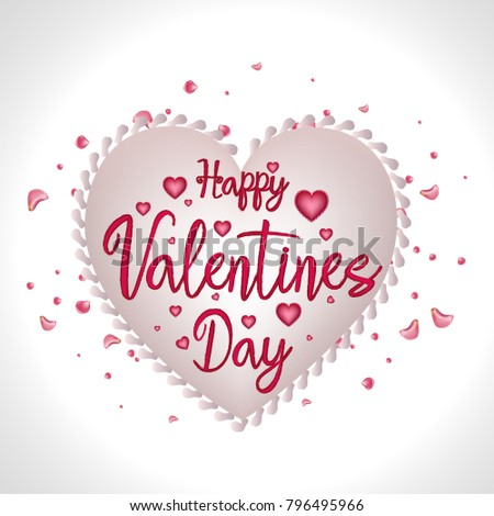 Happy Valentines Day Vector Valentine Day Stock Vector Royalty Free