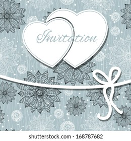 Happy valentines day and wedding card