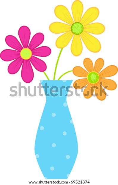 happy vase of flowers
