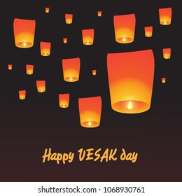 Happy Vesak Day. This is the great day of Buddhists. With lanterns background