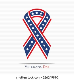 Happy Veterans Day ribbon for your design