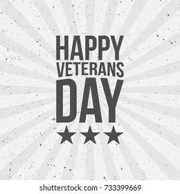 Happy Veterans Day Text