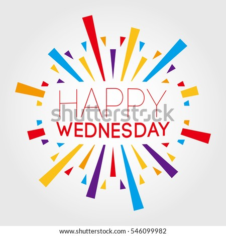 happy wednesday vector illustration poster banner のベクター画像