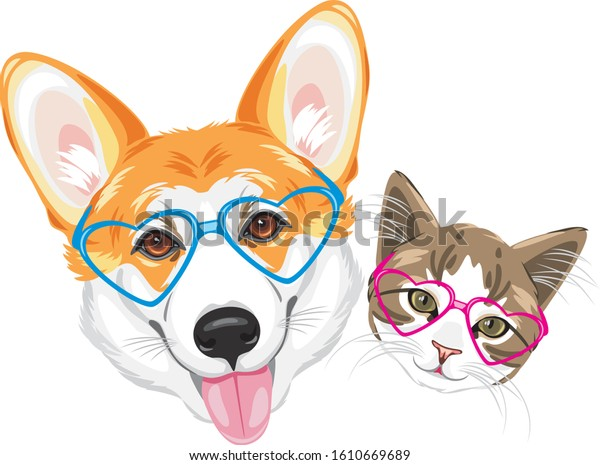 happy-welsh-corgi-cute-cat-600w-16106696