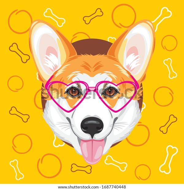 happy-welsh-corgi-on-yellow-600w-1687740