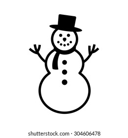 snowman silhouette images stock photos vectors shutterstock https www shutterstock com image vector happy winter snowman hat scarf line 304606478