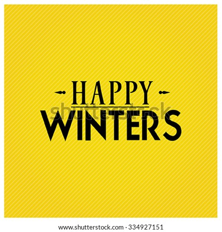 happy winters vector stock vector royalty free 334927151