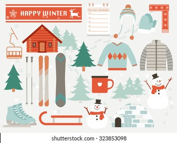 happy winter,winter elements,season greeting
