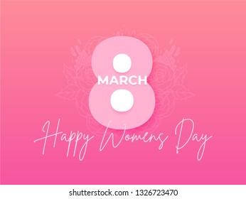 Happy women day illustration holiday background