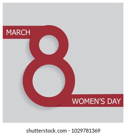 Happy Women's Day 8 March Design Card Background. Happy Women's Day Design Element. Happy women s day greeting card. Postcard on March 8. 8th March concept Poster Template