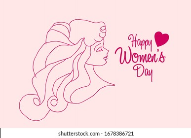 happy women's day background or template