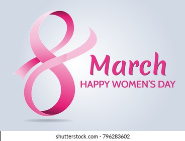 Happy Women's Day celebrations concept with design of a women and text 8th March.