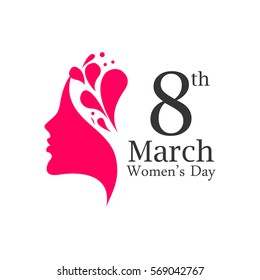 happy womens day design, vector illustration .