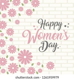 Happy women's day greeting card,sale and web banners flyers templates