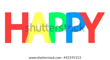 happy word design banner template background stock vector royalty