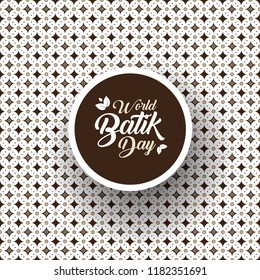 happy world batik day design background with creative motif
