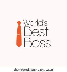 happy world boss day vector template. Design for banner; greeting cards or print.