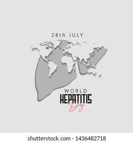Happy world hepatitis day template use for card vector design