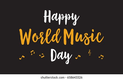 Happy world music day celebration