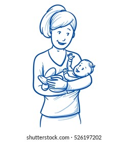 Baby Draw Mother Images Stock Photos Vectors Shutterstock