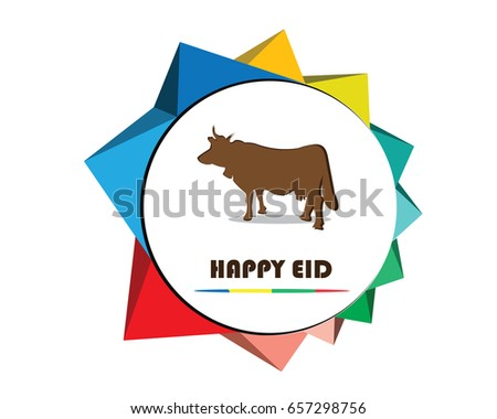 happy greeting cards cow template design stock vector royalty free