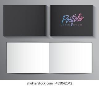 Hard Cover Book Template : Vector illustration