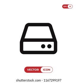 Hard drive vector icon