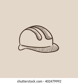 Hard hat sketch icon.