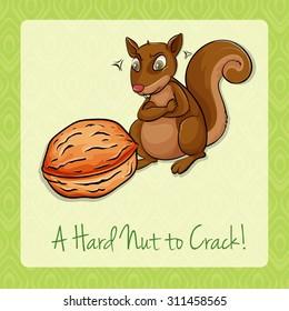 Hard nut to crack illustration