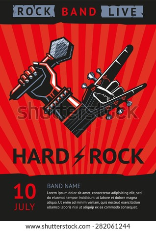 hard rock design template rock concert のベクター画像素材