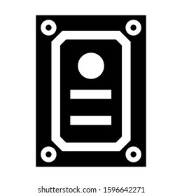 harddisk icon isolated sign symbol vector illustration - high quality black style vector icons