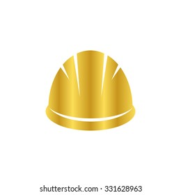 Hardhat - gold vector icon