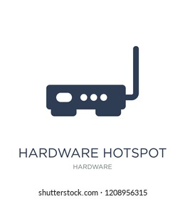 Hardware Hotspot icon. Trendy flat vector Hardware Hotspot icon on white background from hardware collection, vector illustration can be use for web and mobile, eps10