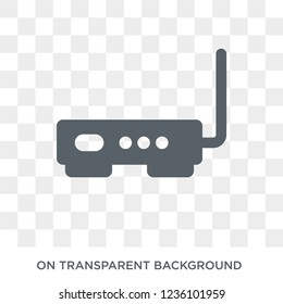 Hardware Hotspot icon. Trendy flat vector Hardware Hotspot icon on transparent background from hardware collection.
