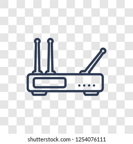 Hardware Hotspot icon. Trendy linear Hardware Hotspot logo concept on transparent background from hardware collection