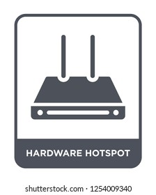 hardware hotspot icon vector on white background, hardware hotspot trendy filled icons from Hardware collection