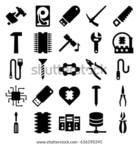 hardware icons set set 25 hardware stock vector royalty free White Rims On Hummer hardware icons set set of 25 hardware filled icons such as hammer saw nail screw wrench screwdriver pliers hummer flash drive wire usb drive