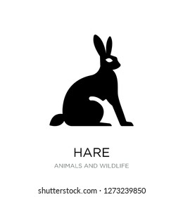 hare icon vector on white background, hare trendy filled icons from Animals and wildlife collection, hare simple element illustration