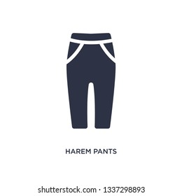 harem pants isolated icon. Simple element illustration from clothes concept. harem pants editable logo symbol design on white background. Can be use for web and mobile.