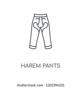 Harem Pants linear icon. Harem Pants concept stroke symbol design. Thin graphic elements vector illustration, outline pattern on a white background, eps 10.