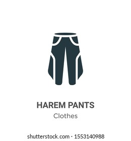 Harem pants vector icon on white background. Flat vector harem pants icon symbol sign from modern clothes collection for mobile concept and web apps design.