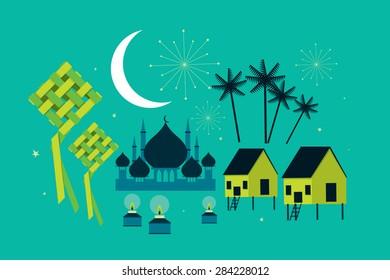 hari raya elements vector/illustration