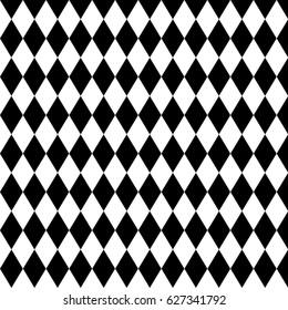 harlequin or argyle pattern made of black diamonds over white