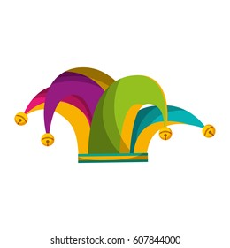 harlequin hat isolated icon vector illustration design