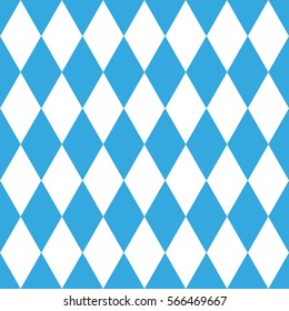Harlequin pattern seamless, blue and white