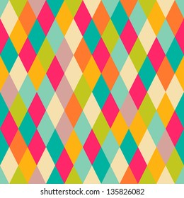 Harlequin vintage seamless pattern