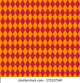Harlequin vintage seamless pattern. Masquerade background. Vector illustration